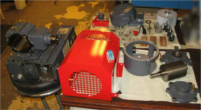 We service and repair vacuum pumps